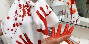 Červená krev na ruce