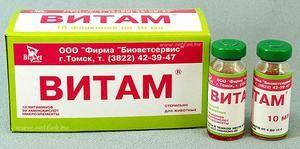 Vitam - komplex pro zvířata, návod k použití